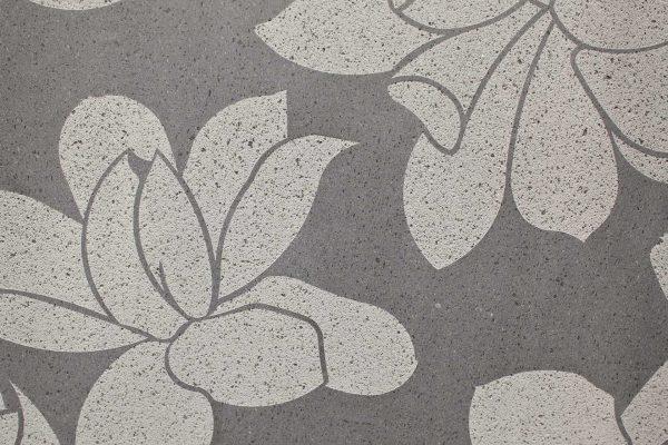 Lava Stone Magnolia Design